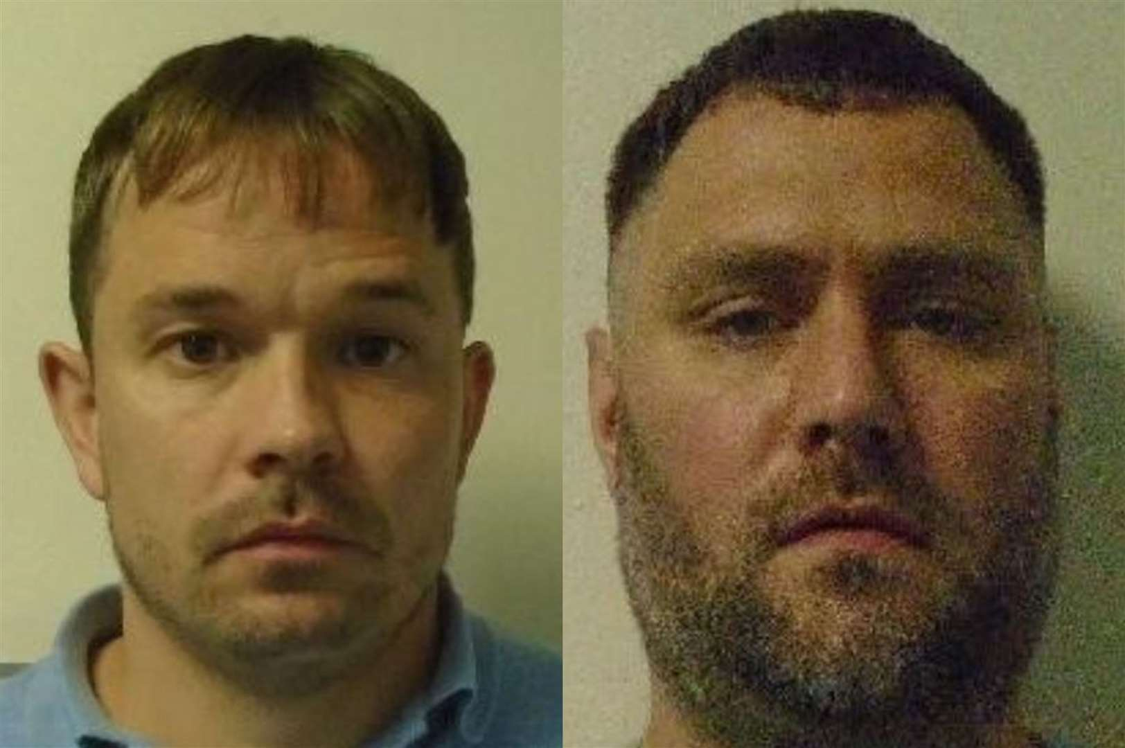 Phillip Pardoe (left) and Peter Durman have escaped from prison