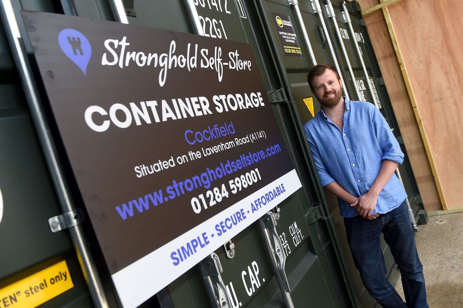 Charlie Shallow has just opened Stronghold Self-Store in Cockfield ....PICTURE: Mecha Morton.... (37093249)