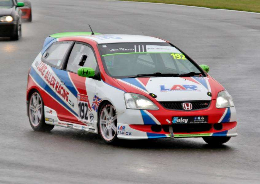 GOOD WEEKEND: Hilborough's Luke Allen claimed two podium finishes during his return to racing last weekend