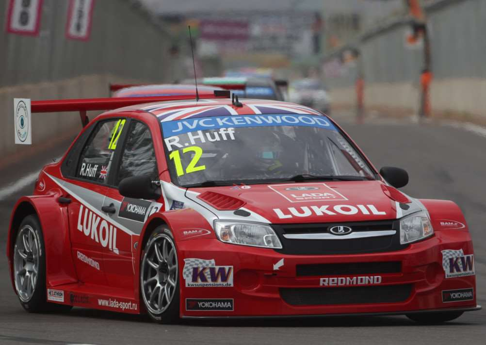 BUOYANT MOOD: Red Lodge-based race ace Rob Huff is confident his brand new Lada Vesta can be a major force on the grid this season