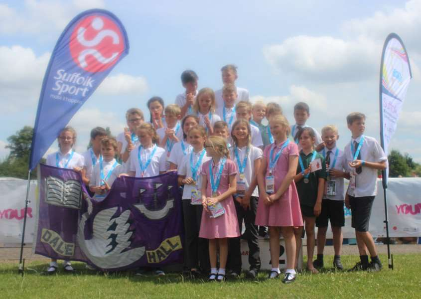 CHAMPIONS: Long Melford pupils won gold in the swimming