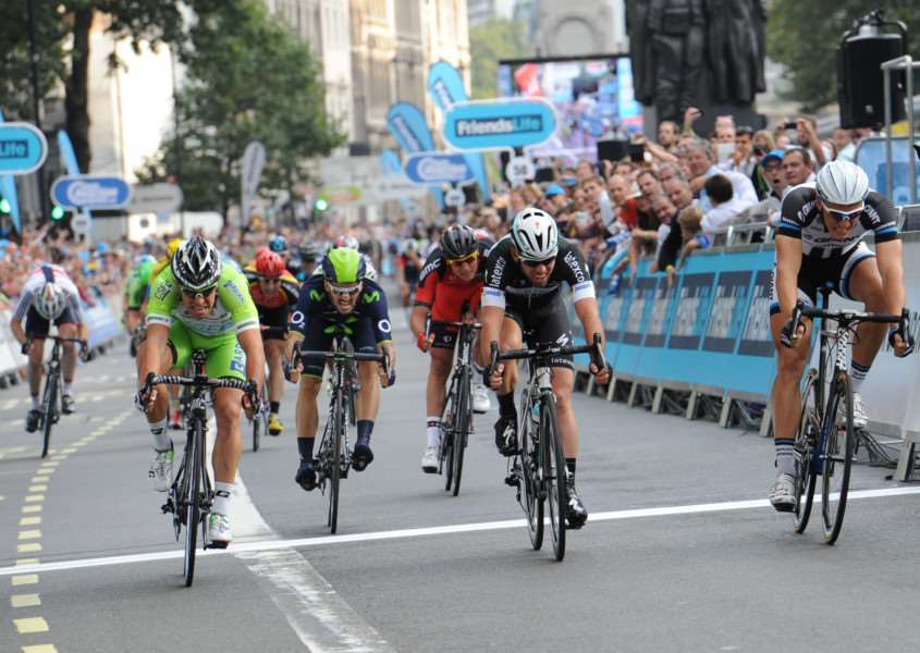 Marcel Kittel wins the final sprint stage of the 2014 Tour of Britain in London ANL-150821-122242001