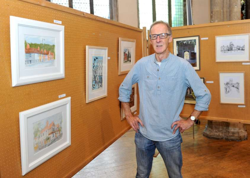 Sudbury's Visons 2015 at St Peters Church''Pictured: Robin Drury - Organisers with some of his work ANL-150610-134201009