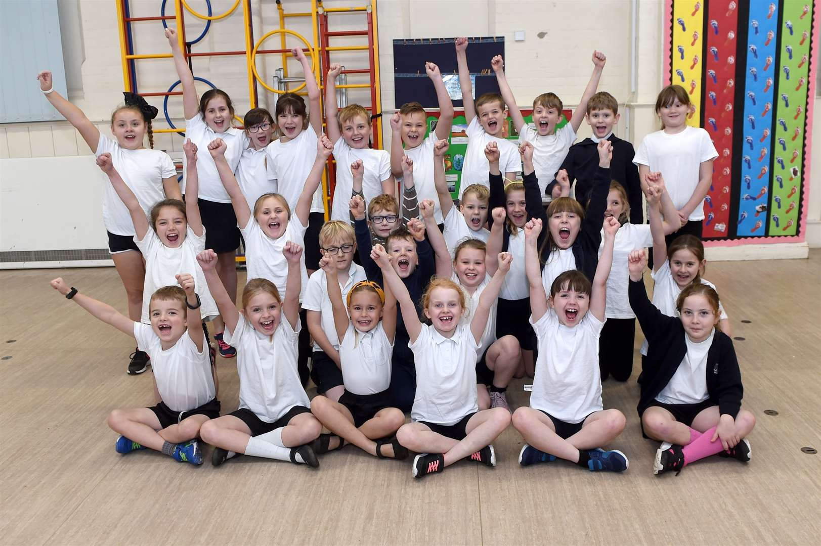 Glemsford Primary Academy staged a sports themed event to encourage youngsters to keep fit...PICTURE: Mecha Morton .... (22635379)