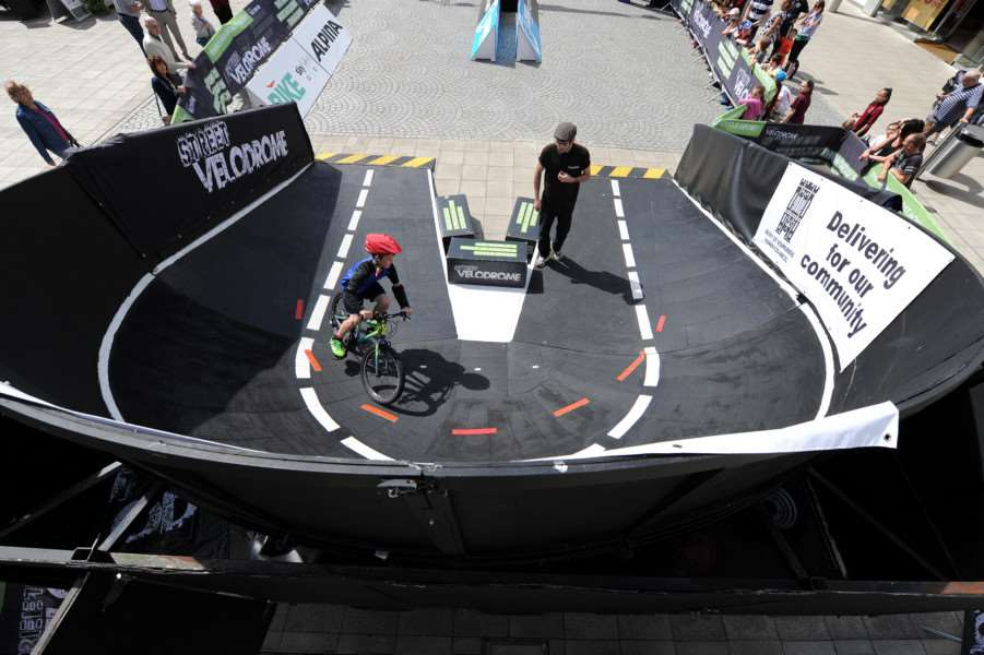 Street Velodrome in the Arc, Bury St Edmunds. Schools day''Pictured: Hardwick Primary School ANL-160715-130722009