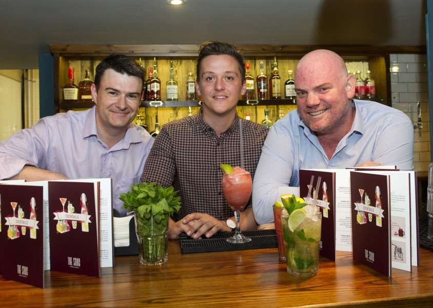 The Snug on St Johns Street is to open soon''Pictured: Owner Giles Fry with General Manager Joe Calvey and biz partner Ashley Moore ANL-160913-154237009