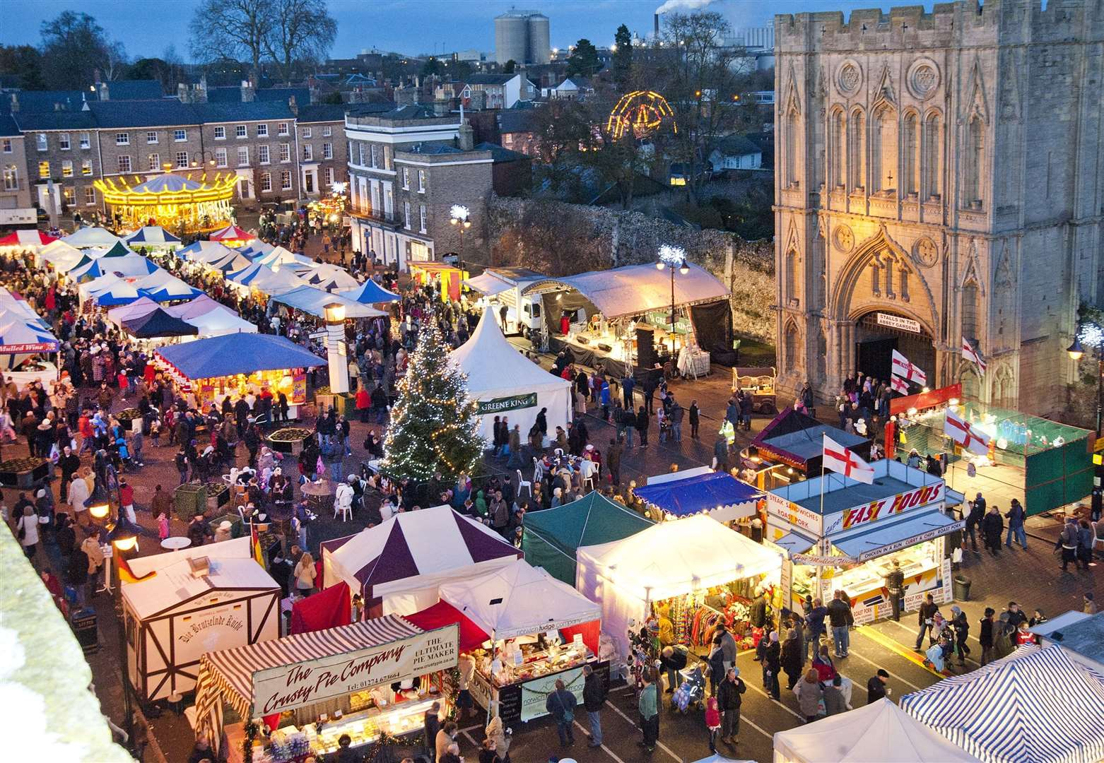 Bury St Edmunds Christmas Fayre on Angel Hill, Bury St Edmunds. Picture: West Suffolk Council (31789775)