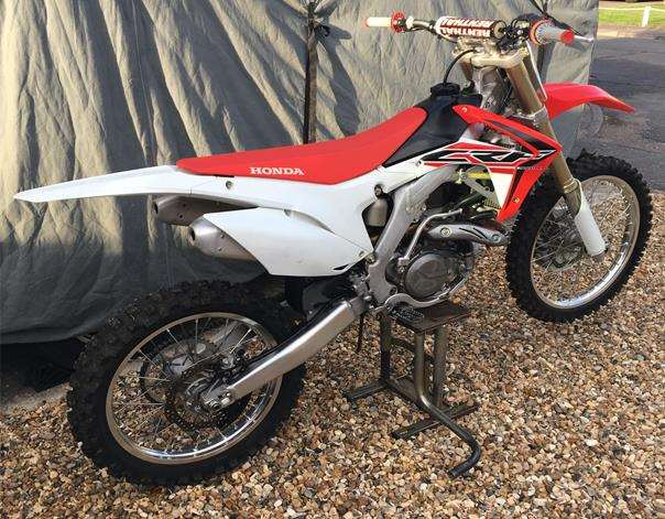 The Honda motorcycle was stolen from a garage in Old Newton. (4728666)