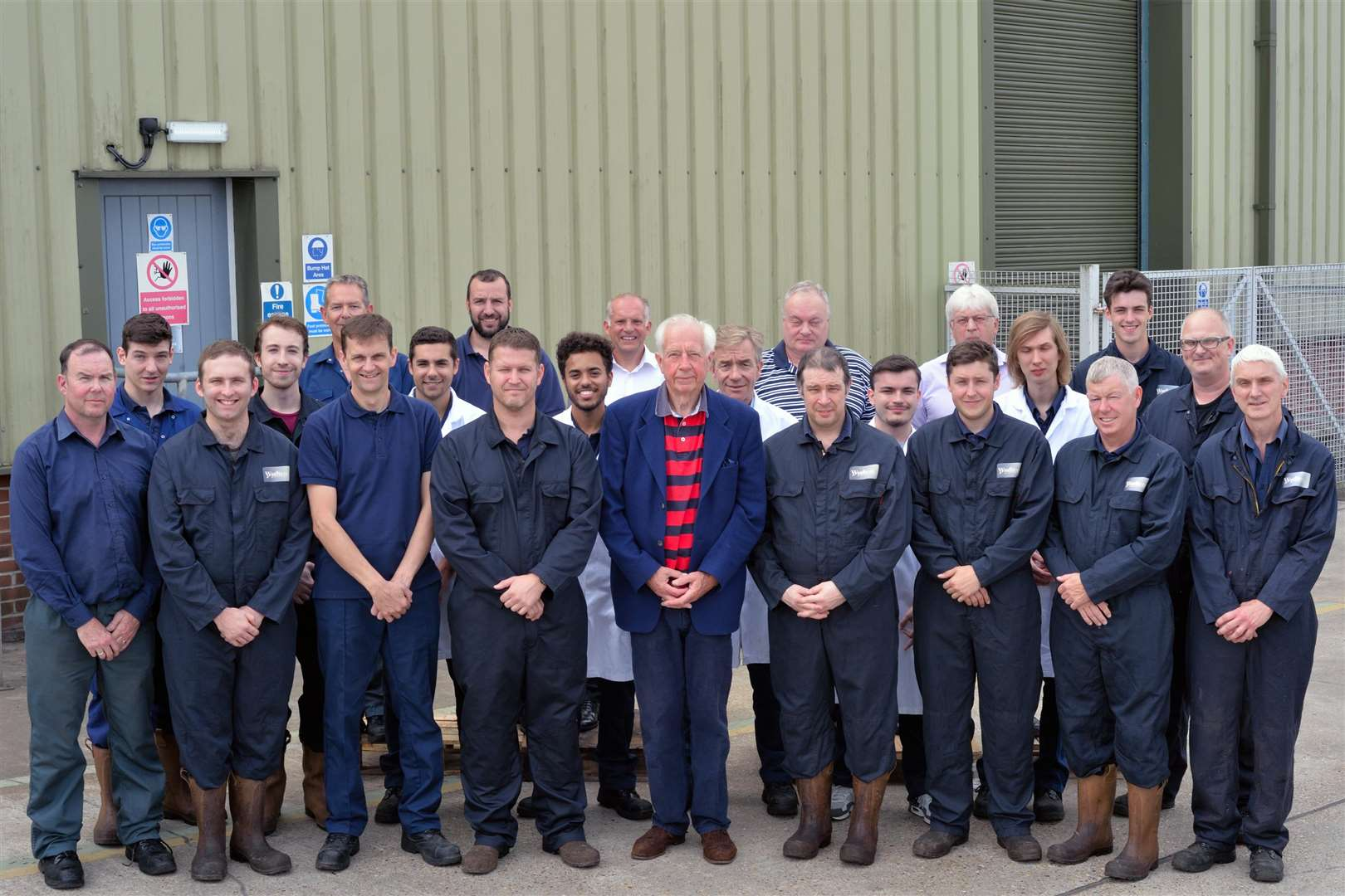 The staff at Wychem, which is celebrating its 50th anniversary this year. Among them is the business' founder Geoff Fuller, front centre (3254147)