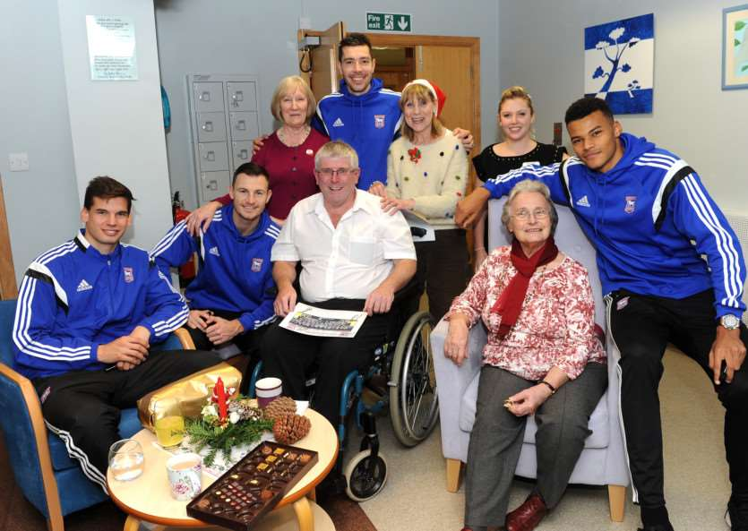 Ipswich Town Football Players visit St Nicholas Hospice Care ANL-141217-093256009
