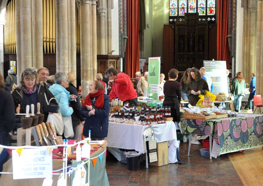 Sudbury Eco Fair in St Peters Church ANL-150111-183309009