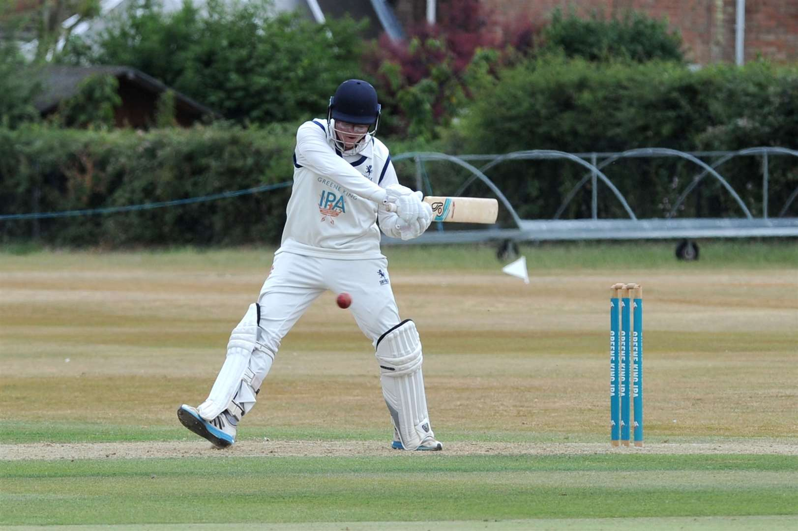 CRICKET - Suffolk (Batting) v Bedfordshire 3 day match (Monday)..Pictured: Jack Beaumont ...PICTURE: Mecha Morton. ... (33485144)