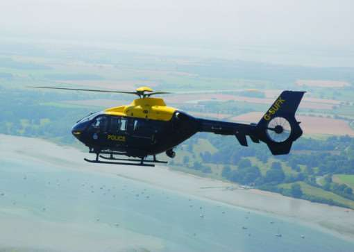 NPAS police helicopter from Wattisham over Suffolk ANL-150225-155123001