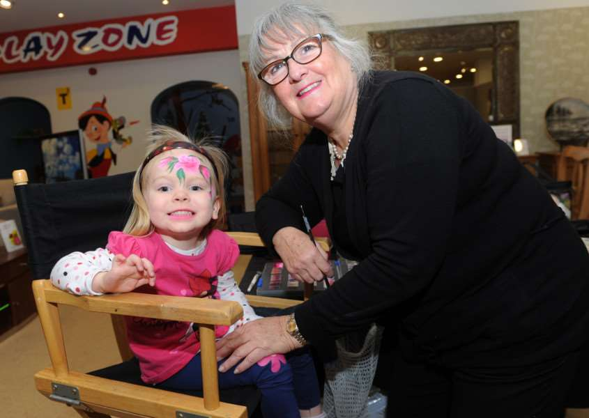 Glasswells Big Birthday Weekend''Pictured: Chloe Williams (2) having her face painted by Pauline White ANL-160205-150229009