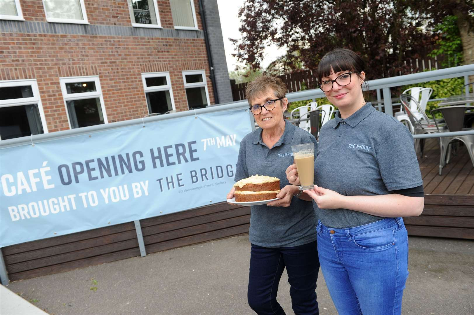 The Bridge Project was hit with an online scam in January losing £10K and said it could not expand its successful meal delivery service as a result. The owner of Brundon Lane cafe has come forward to offer the charity to run the cafe on the business park, which will mean that if it works out, they can expand their meal service. ..Pictured: Cyndi Gosling (Cafe Manager) and Josie Hague (Team Member)..PICTURE: Mecha Morton... (9830254)
