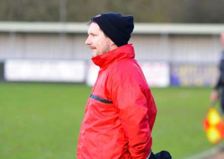 LEFT DELIGHTED: AFC Sudbury manager David Batch could not hide his delight with his side, despite the defeat
