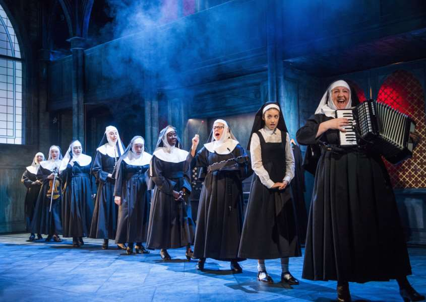 A scene from Sister Act @ Leicester Curve. Directed and Choreographed by Craig Revel Horwood.'(Opening 30-07-16)'�Tristram Kenton 07/16'(3 Raveley Street, LONDON NW5 2HX TEL 0207 267 5550 Mob 07973 617 355)email: tristram@tristramkenton.com