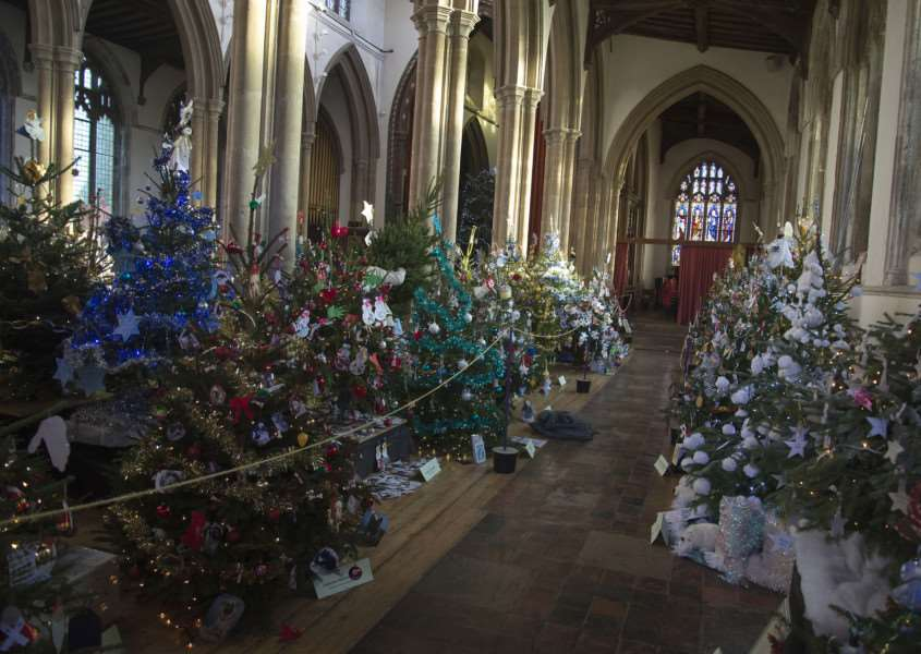 Christmas Tree Festival St Peter's Sudbury. Picture Mark Westley ANL-150912-113820009