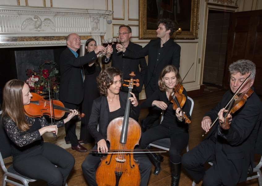 Oz Clarke with the Armonico Consort. Picture: Andy Gray.