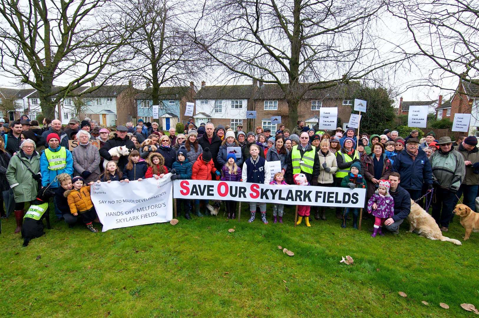 Long Melford, Suffolk. The Save Long Melford's Skylark Fields community action group is leading a walking tour of potential development sites in Long Melford, to highlight the issues of over-development...Picture: MARK BULLIMORE PHOTOGRAPHY. (3432195)