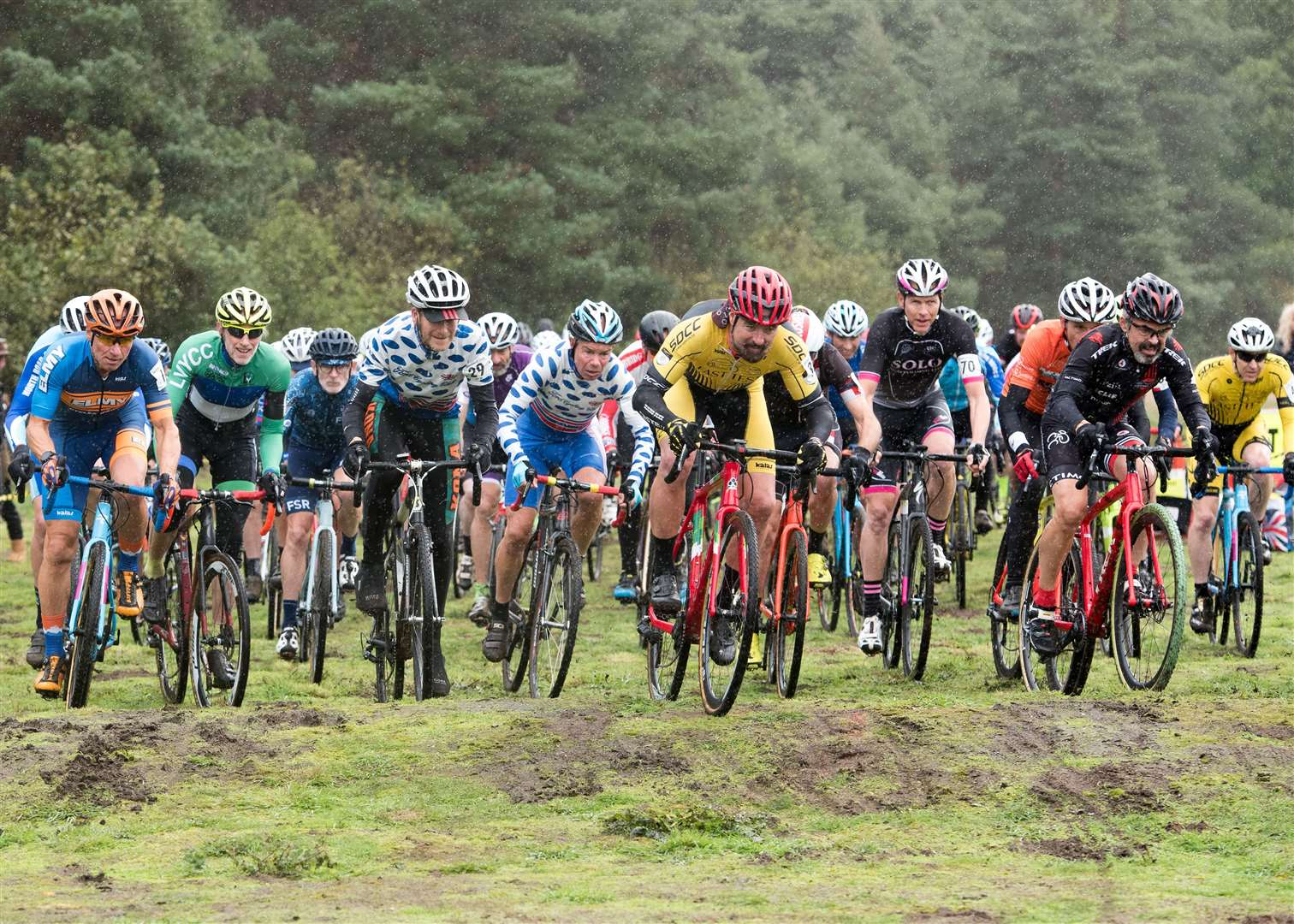 West Suffolk Wheelers will be holding Round 7 of the Eastern Cyclo-Cross League on Saturday 2nd November 2019 at West Stow Country Park.Veteran Men 50-59 and Vet 60+ Race Picture by Mark Westley. (21005066)