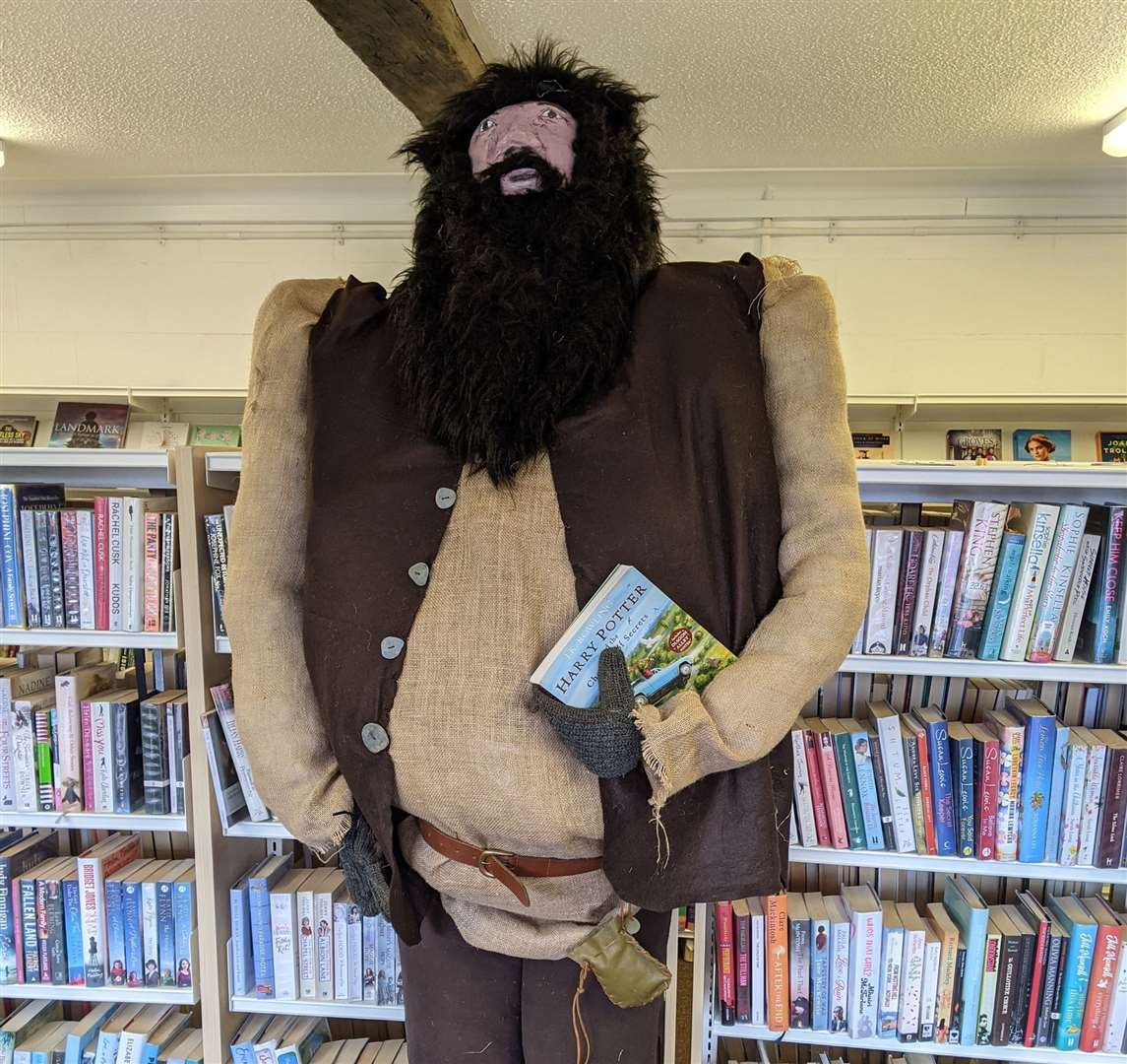 Hagrid from Harry Potter paid a visit to Clare Library to celebrate Suffolk Libraries Day. Picture: Clare Library Facebook