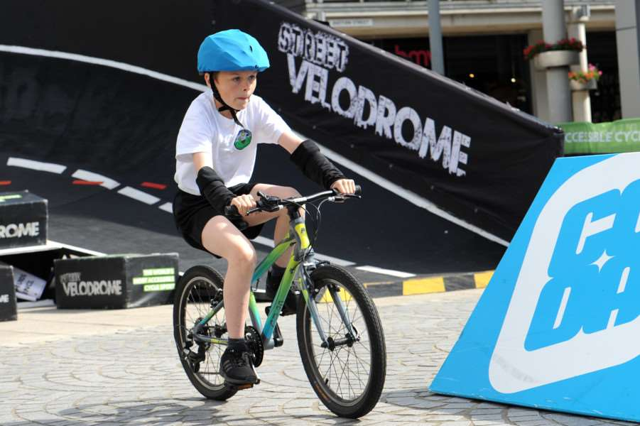 Street Velodrome in the Arc, Bury St Edmunds. Schools day''Pictured: Abbots Green Primary School ANL-160715-130536009