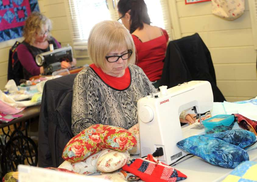 Heart cushions and quilts are being made for West Suffolk Hospital''Pictured: Christine Fordham