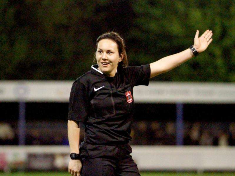 BIG APPOINTMENT: Suffolk referee Emily Heaslip Picture: Suffolk FA