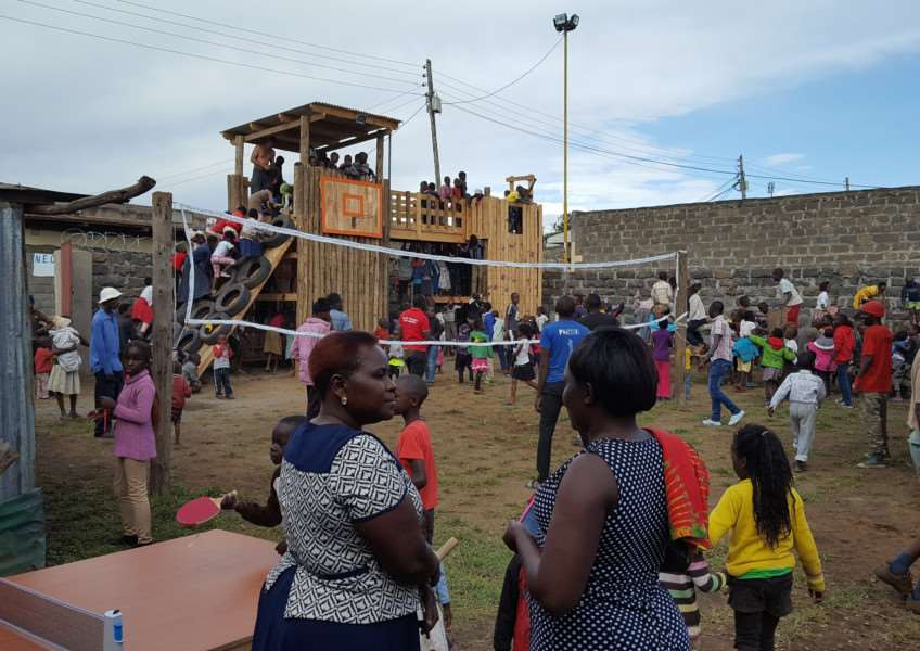 Kwi Marugi children make full use of the play area the Doxa team created