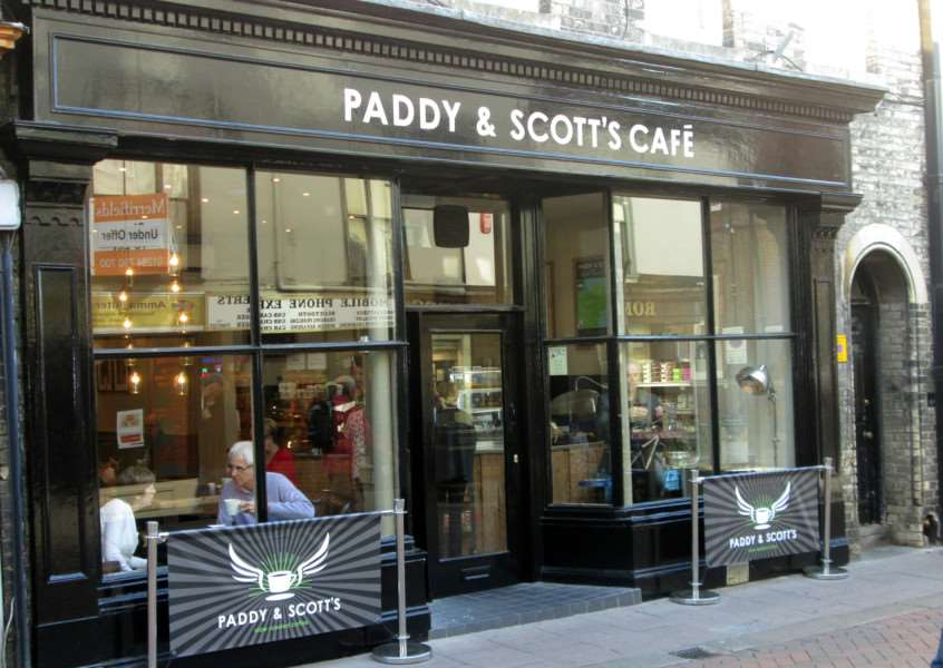Paddy & Scott's Cafe, Abbeygate Street, Bury St Edmunds