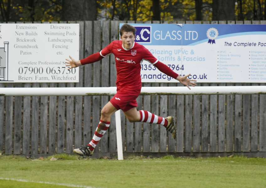 ON TARGET: James Seymour opened the scoring at Hadleigh