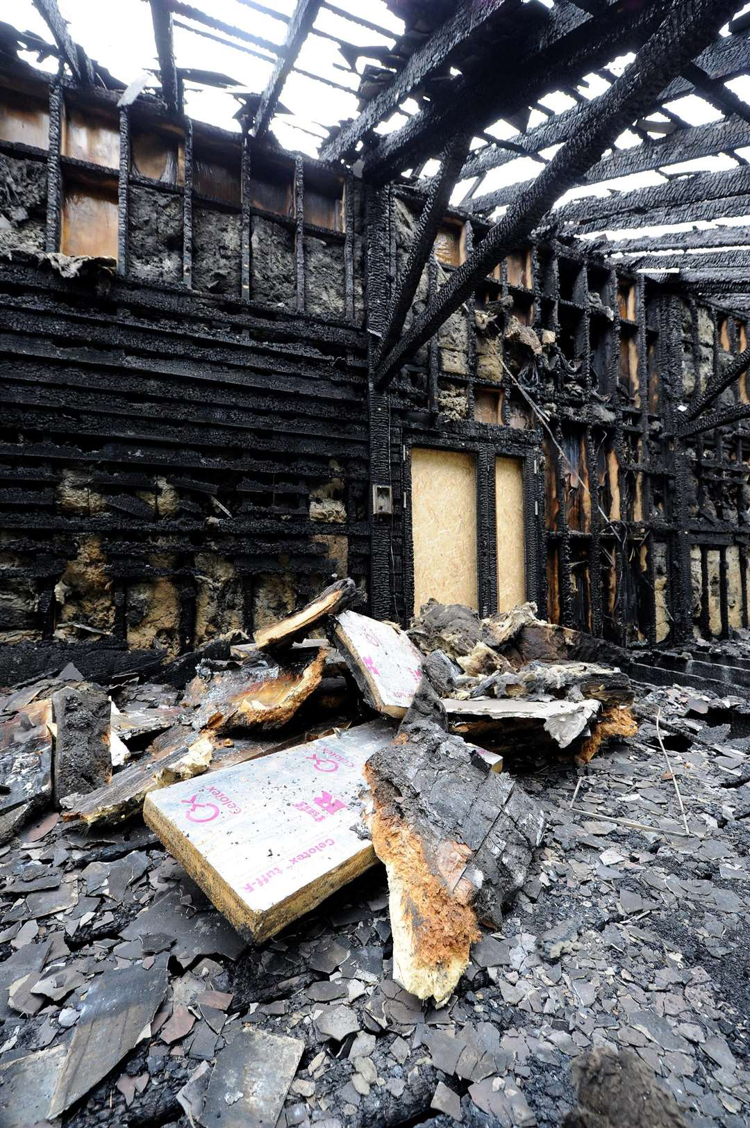 The River Stour Trust's Visitor Education Centre has suffered severe damage following a blaze at the weekend.....PICTURE: Mecha Morton... .. (4103697)