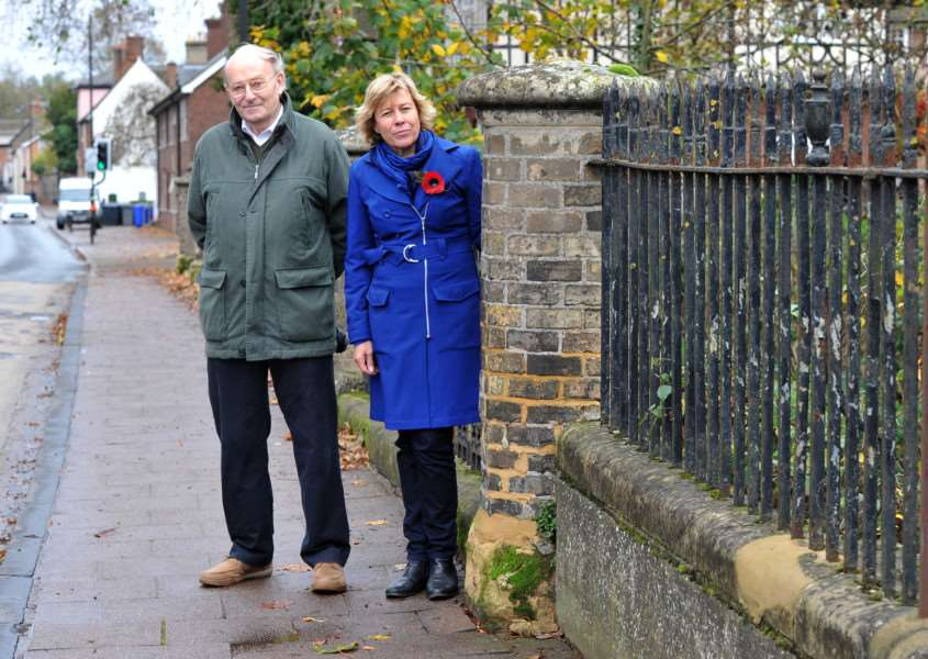 Eastgate Bridge is in a bad state of repair''Pictured: Cllr Trevor Beckwith and Melanie Lesser ANL-150911-150701009