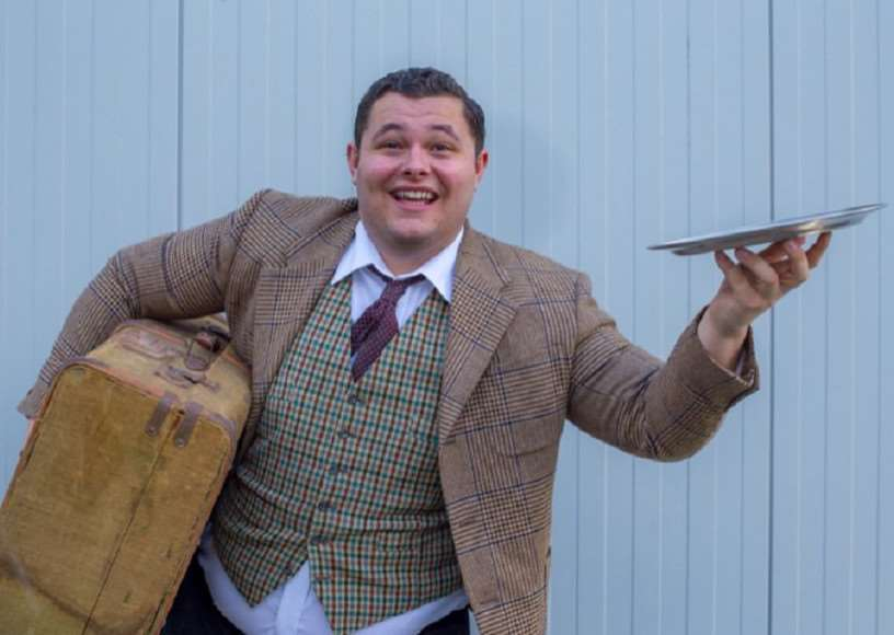 Charlie Moody, who plays Francis Henshall, in Centre Stage's One Man Two Guvnors Alison Harris Photography
