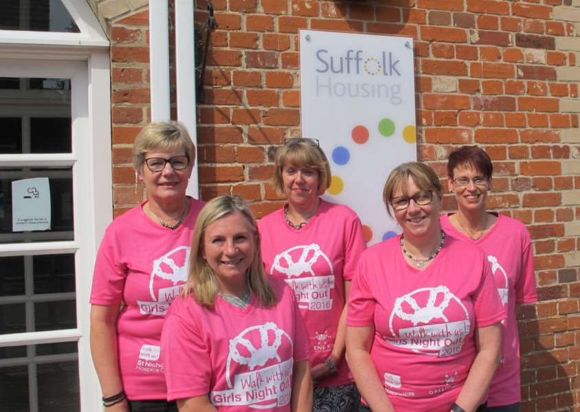The Suffolk Housing team are counting down the days to Girls Night Out 2016. ANL-160825-142218001