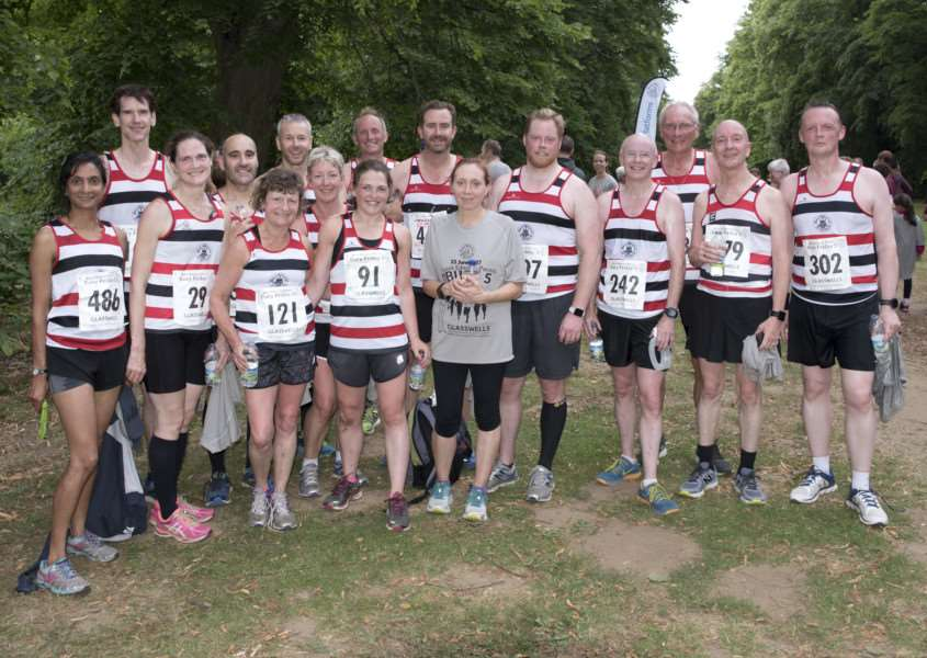 COLLECTIVE SPIRIT: St Edmund Pacers who took part in the race