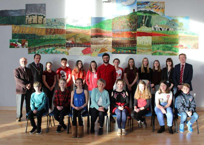 Students at Sybil Andrews Academy created a mural to mark the golden jubilee of the Art Society Bury St Edmunds