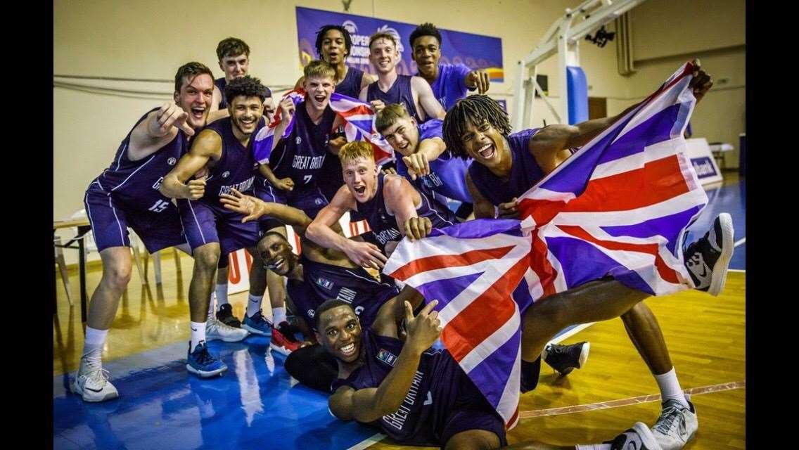 U18 GB Men's basketball, who finished 8th at U18 European Championship in Volos, Greece 2019. Picture: FIBA (16165330)