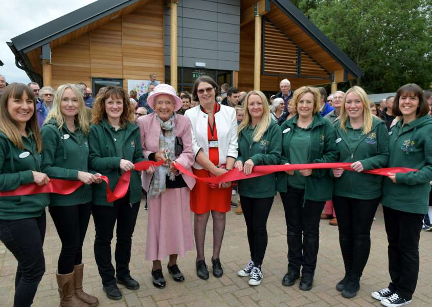 Lavenham, Suffolk. Official opening of Lavenham Pre-School Building with all of the village being invited to the grand opening of Lavenham Pre-School on Saturday which was built as a result of a �500,000 fundraising exercise by the village. Pictured is Lyn Gurling (centre left) opening the building. ''Picture: MARK BULLIMORE PHOTOGRAPHY