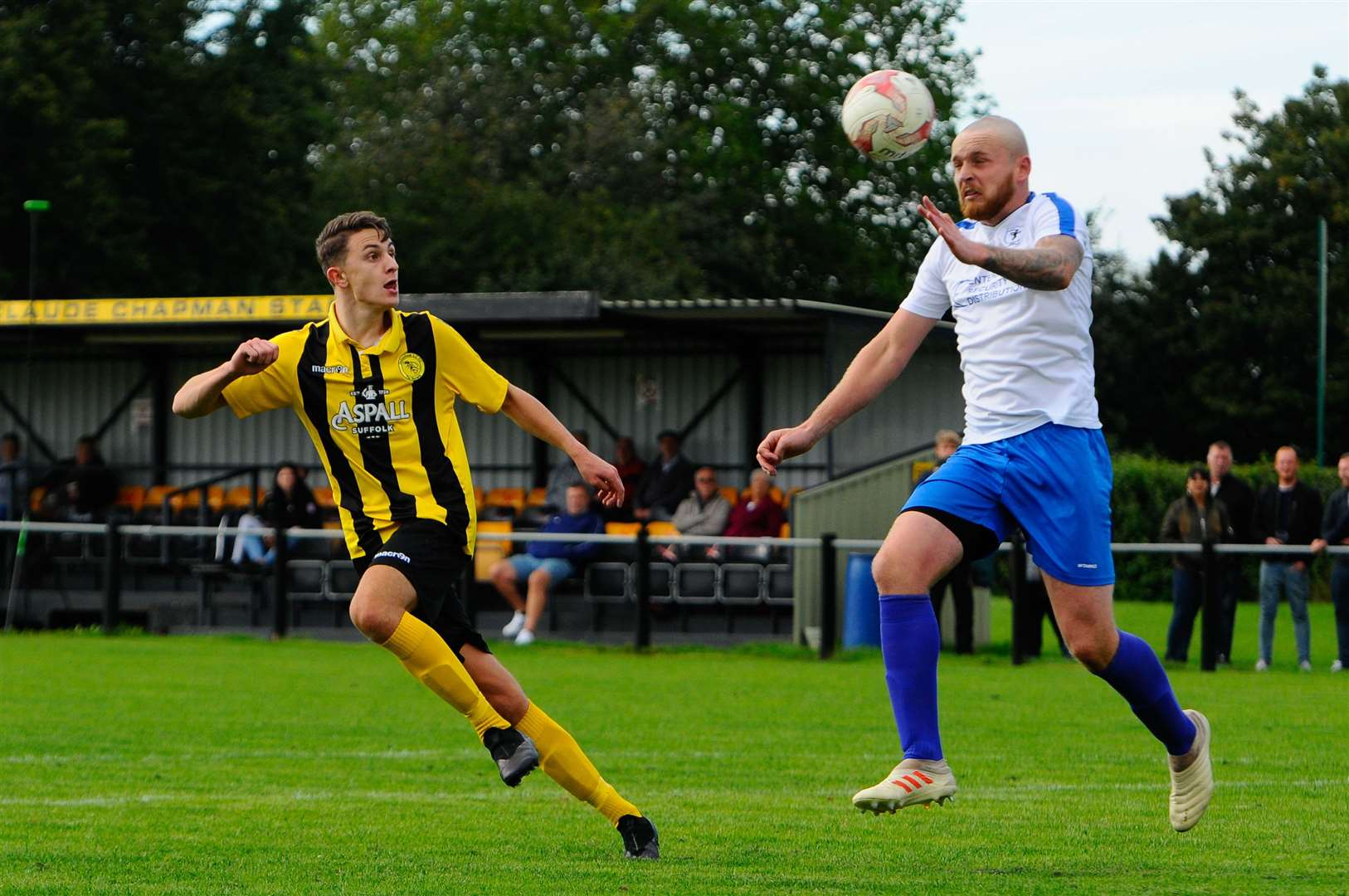 Debenham, Suffolk, 05/09/2020..Football action from Debenham LC vs Fakenham Town FC - Will Aldis..Picture: Mark Bullimore Photography. (41983169)