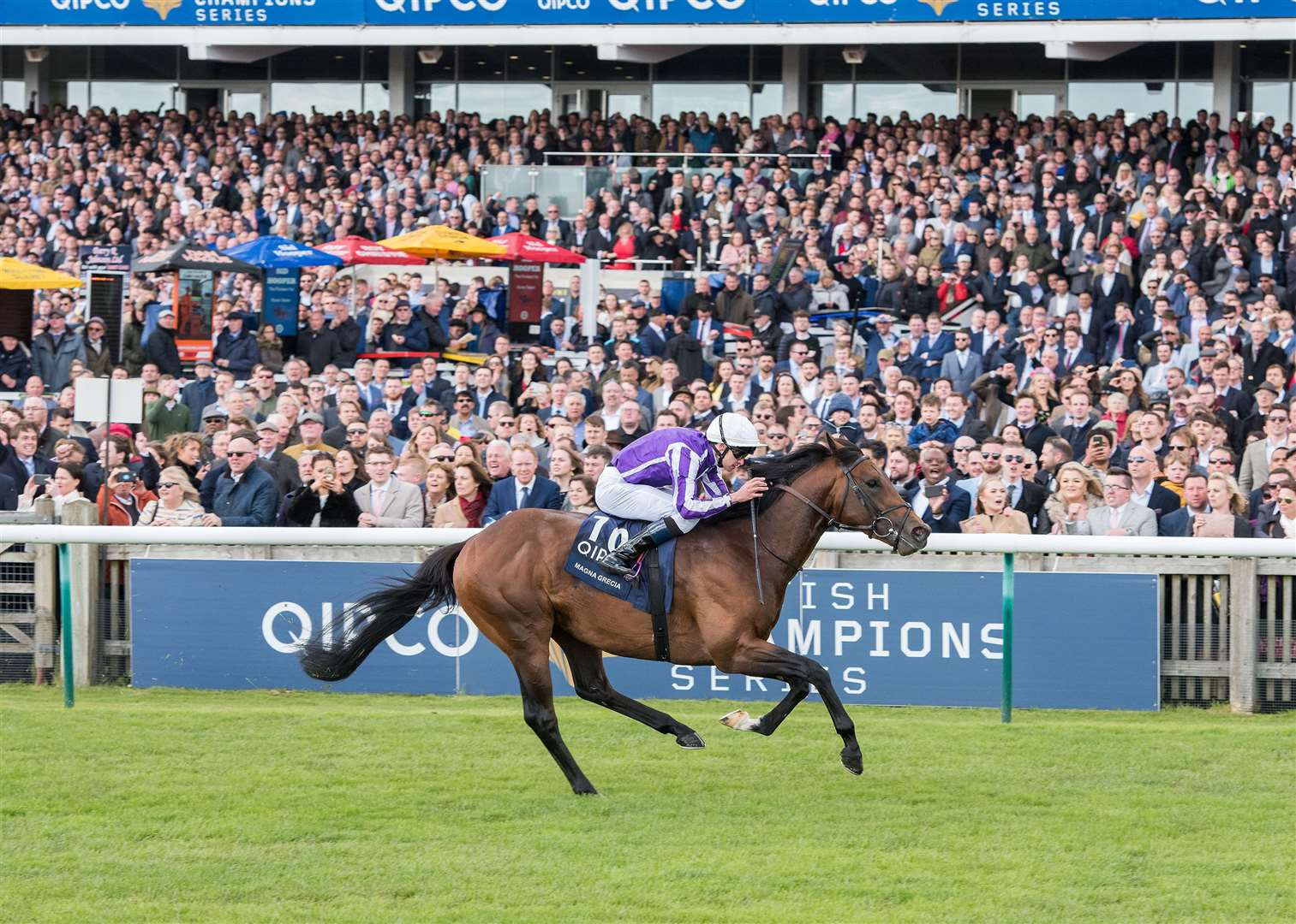 2000 Guineas day at Newmarket Rowley Mile Qipco 2000 Guineas Stakes (Group 1) (British Champions Series) (Colts & Fillies).10. Magna Grecia.Winning jockey: Donnacha O'Brien.Winning trainer: A P O'Brien Picture by Mark Westley.