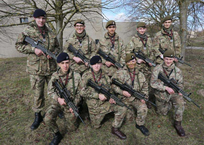 Silver Medals for Bury St Edmunds 'A' Company Cadets, in the 7th Infantry Brigade Combat Cadet 201'Picture: Sgt John Tillotson