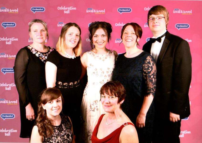 Staff from Dizzy's Day Nursery, Hannington's Jewellers and the bestof Haverhill at the Bestof Ball ANL-150430-122516001