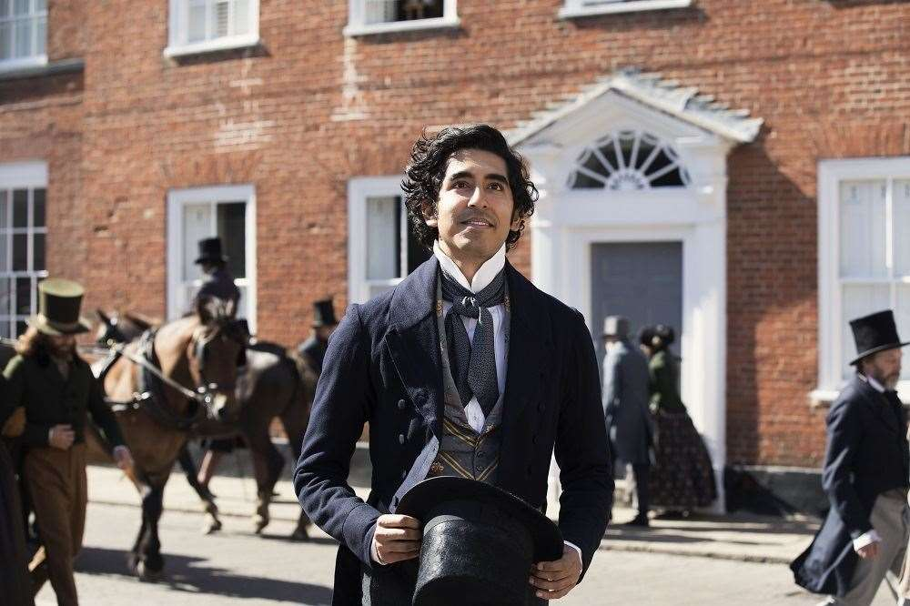 Dev Patel in The Personal History of David Copperfield. He is pictured in Churchgate Street, Bury St Edmunds. Picture courtesy of Lionsgate UK