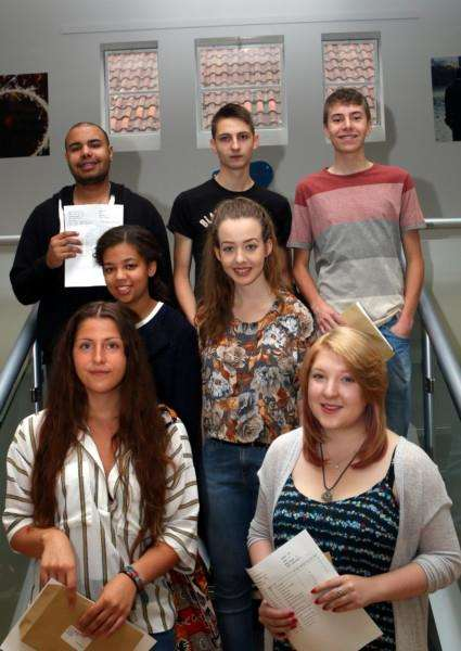 Some of the successful A-level students at Mildenhall College Academy ANL-150813-113956001