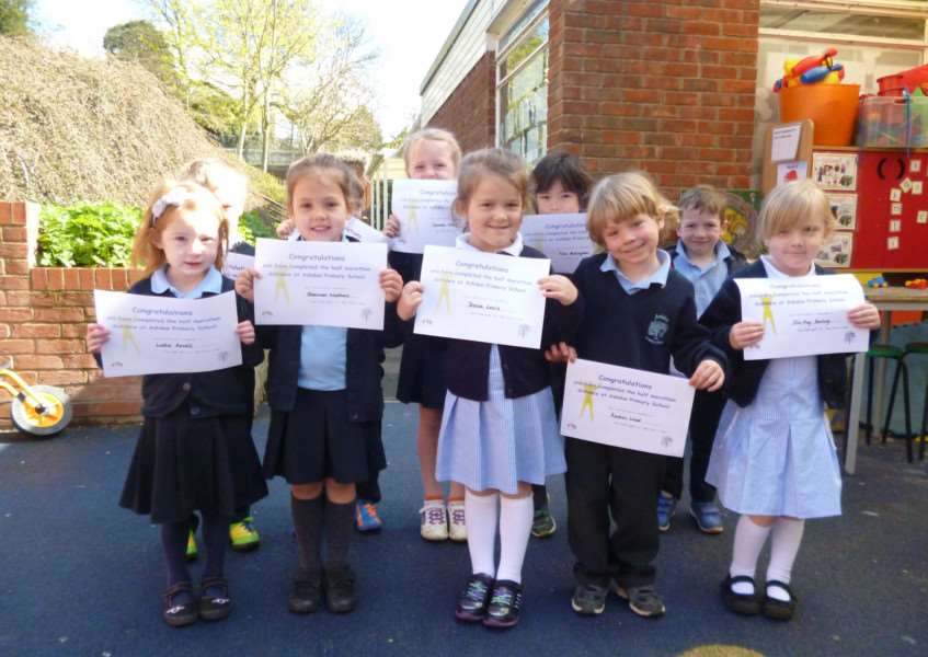 Ashdon Primary School pupils have been walking for fun ANL-160429-111428001