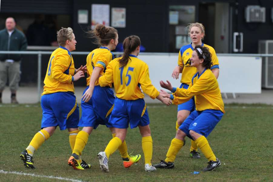 FOOTBALL - Ladies football county cup semi final Bury Town v AFC Sudbury ANL-150315-173252009