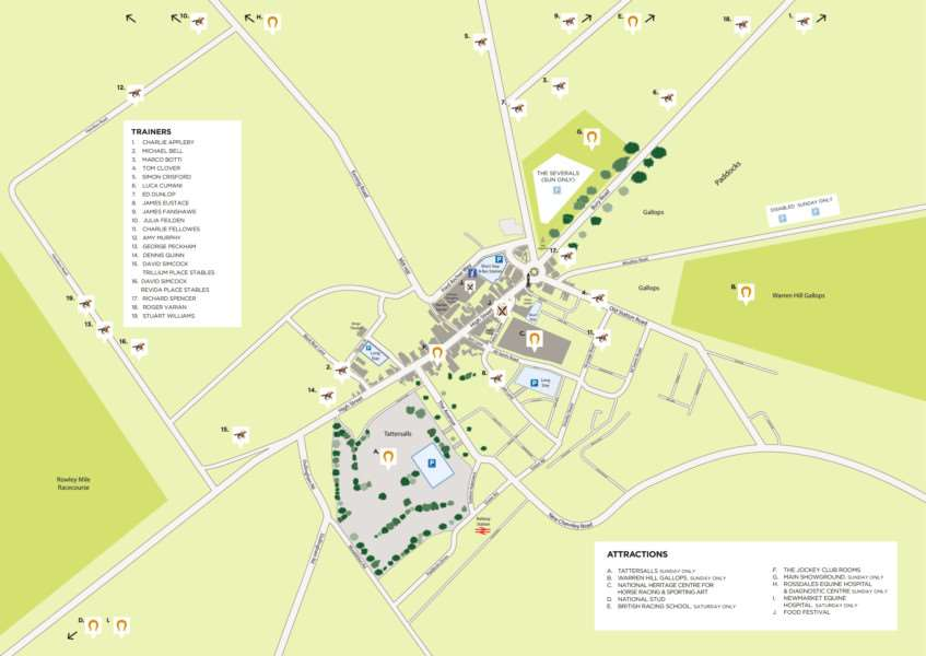 Newmarket Open day map