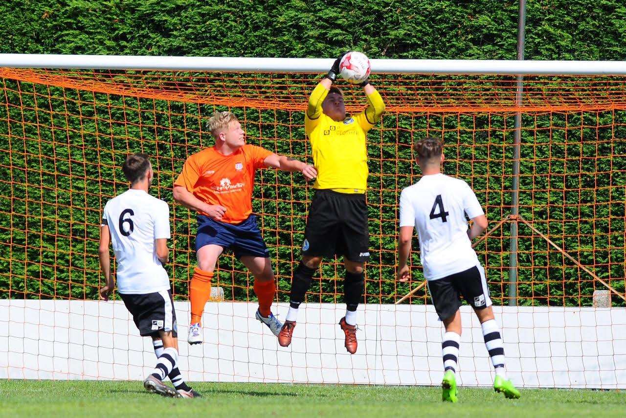 ANOTHER GOAL: Steve Holder netted for the second weekend running for Diss. Picture: Mark Bullimore